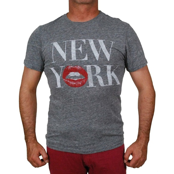 NEW Nordstrom Chaser New York Lips Tee Shirt Top